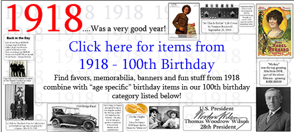 100th birthday party supplies for 100 year celebrations for 100th birthday decoration ideas