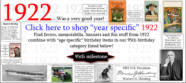 1922 Party supplies-95th birthday