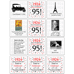 Measures 4 Inches Fun Facts And Pop Culture Events From The Year These Coasters Area Great Conversation Piece Can Also Be Used As Table Decorations