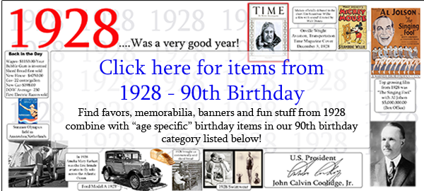 1928 Birthday Party Supplies