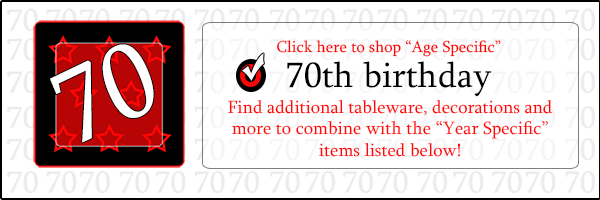 1949 Party Supplies 70th Birthday Party Ideas