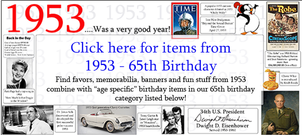 65th Birthday Party Supplies
