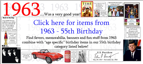 Click here to shop 55th Birthday Party Supplies