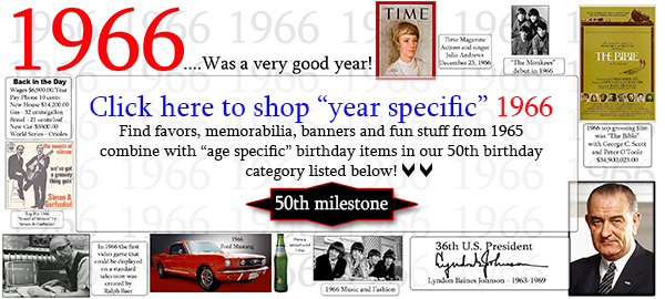 1966-50th Birthday Party Supplies