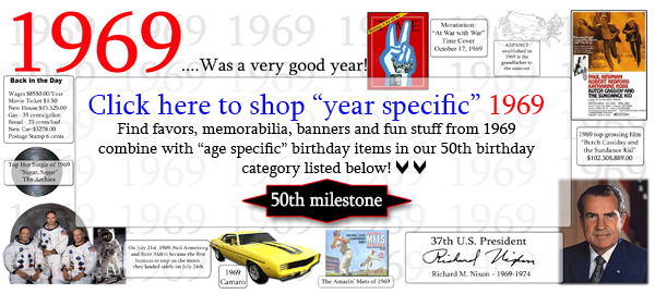 1969 50th Birthday Party Supplies