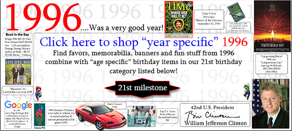 Click here to shop 1996-21st Birthday Party Supplies