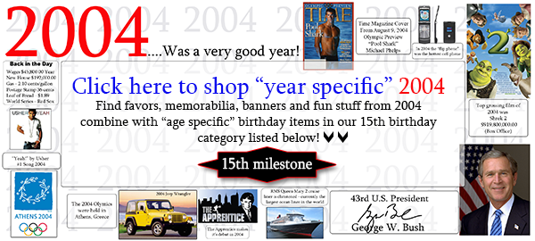 Click here to shop 2004-13th Birthday Party Supplies