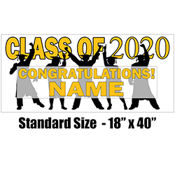 Graduation Deluxe Hanging Danglers Yellow 8 Pack Grad Party Decorations