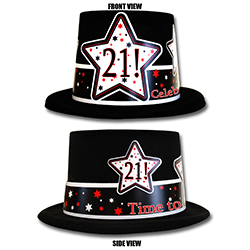 Plastic Backed Velour Topper Will Make Great Photo Ops Bright And Bold Graphics Proudly Displays The Specific Age Repeats 3 Times On Hat Rim