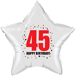 Your Age On A 20 Inch Star Balloon Fun Way To Say Happy Birthday Mylar Ships Flat
