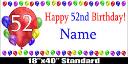 With A Burst Of Balloons Simply Add Name To Finish The Banner Measures 18 Inches X 40 Long Printed On Heavy Duty Material