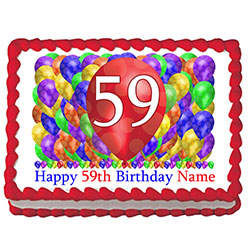 """Number 59 Silver 34/"""" Balloon Birthday Party Decorations 59th Birthday"""