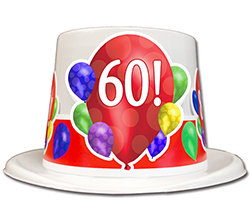 60TH BIRTHDAY BALLOON BLAST TOP HAT