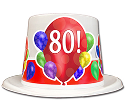 80th Birthday 1937 Gift Vintage Hat Plastic Backed Velour Topper Will Make Great Photo Ops Bright And Bold Graphics Proudly Displays The
