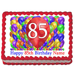 85TH BIRTHDAY BALLOON BLAST EDIBLE IMAGE