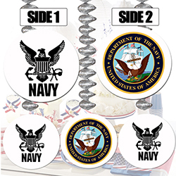 The 6 Inch Round Decoration Include Contemporary And Traditional Navy Logos On Either Side Designed To Whirl Twirl In Breeze Danglers Are Great