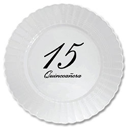 High-quality scalloped edge plastic plates printed with fine script for that occasion when paper just won\u0027t do. You will love the look and feel of these ...  sc 1 st  Partypro.com & quinceanera classy black party supplies - quinceanera classy black ...