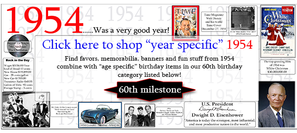 60TH BIRTHDAY DECORATIONS & ACCESSORIES PARTY SUPPLIES