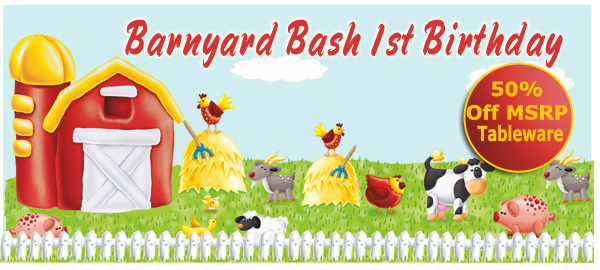 Barnyard Bash 1st Birthday Party Supplies