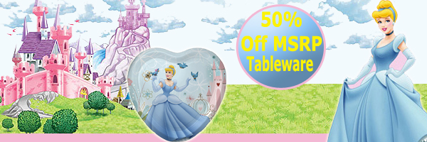 Bulk Disney's Cinderella Party Supplies