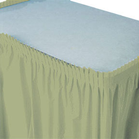 Click for larger picture of SAGE GREEN TABLE SKIRT PARTY SUPPLIES