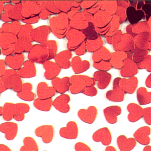 RED HEART CONFETTI (12/CASE) PARTY SUPPLIES