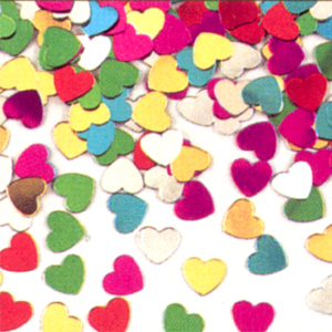 DISCONTINUED CONFETTI MIXED HEART PARTY SUPPLIES