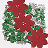 DISCONTINUED POINSETTIA LARGE CONFETTI PARTY SUPPLIES