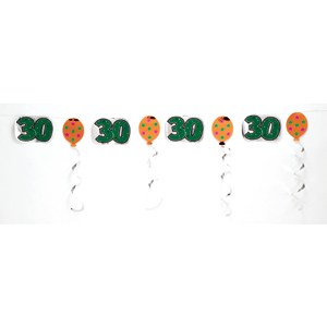 DISCONTINUED 30TH FOIL GARLAND PARTY SUPPLIES