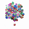 80TH CONFETTI MULTI COLOR PARTY SUPPLIES
