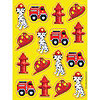 DISCONTINUED FIREFIGHTER VALUE STICKER PARTY SUPPLIES