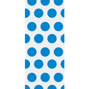 BLUE POLKA DOT CELLO BAG (LARGE) PARTY SUPPLIES
