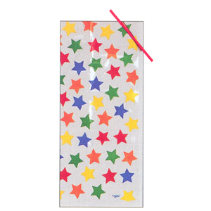 PRIMARY STARS CELLOPHANE BAG (20 CT.) PARTY SUPPLIES
