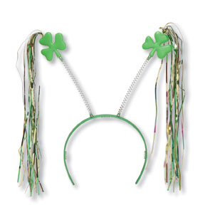 Click for larger picture of ST. PATS BOPPER W/TNSL HEADBND (12/CASE) PARTY SUPPLIES