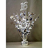 16TH SILVER STARS CENTERPIECE-BALLOON WT PARTY SUPPLIES