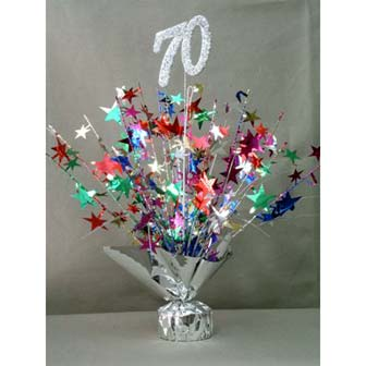 Elegant birthday table decoration for 70th birthda photograp for 70 birthday decoration ideas