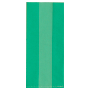 GREEN CELLOPHANE BAG (LARGE) PARTY SUPPLIES