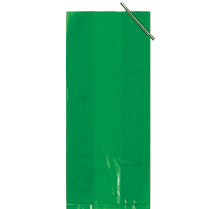 CELLO BAG GREEN LG (240/CASE) PARTY SUPPLIES