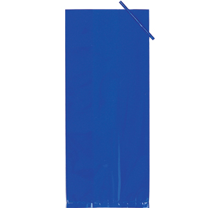 BLUE CELLOPHANE BAG (LARGE) PARTY SUPPLIES