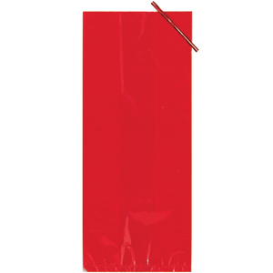 Click for larger picture of RED CELLOPHANE BAG (LARGE) PARTY SUPPLIES