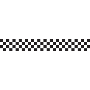BLACK & WHITE CHECK CREPE STREAMER PARTY SUPPLIES