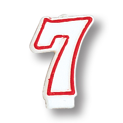 Click for larger picture of NUMERAL 7 CANDLE (6/CASE) PARTY SUPPLIES