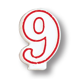 NUMERAL 9 CANDLE (6/CASE) PARTY SUPPLIES