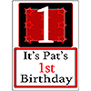 PERSONALIZED 1 YEAR OLD YARD SIGN PARTY SUPPLIES
