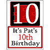 PERSONALIZED 10 YEAR OLD YARD SIGN PARTY SUPPLIES