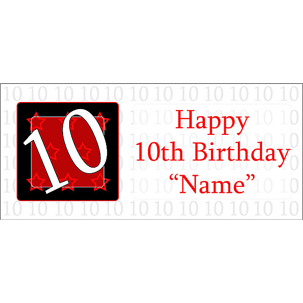 10 happy birthday party supplies personalized 10 year old banner