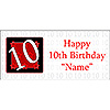 PERSONALIZED  10 YEAR OLD BANNER PARTY SUPPLIES