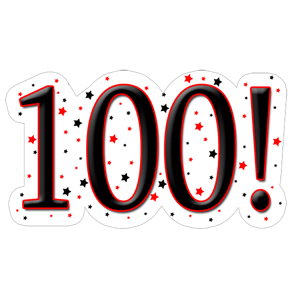 100! DECORATION (15X22 IN.) PARTY SUPPLIES