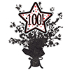100! BLACK STAR CENTERPIECE PARTY SUPPLIES