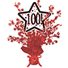 100! RED STAR CENTERPIECE PARTY SUPPLIES